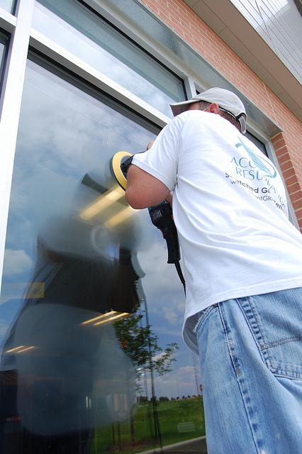 Glass Scratch Repair By Accent Glass Resurfacing In Austin